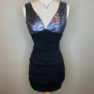 Body Central |  Black Mini Dress Sequins